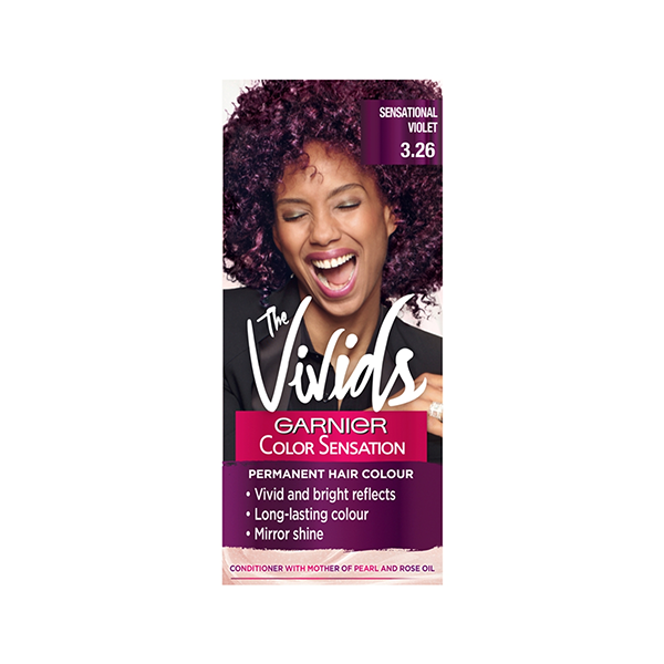 Garnier Color Sensation Vivids Permanent Hair Colour 3.26 Sensational Violet in Sri Lanka