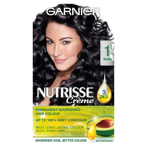 Buy Garnier nutrisse 1 black permanent hair dye in sri lanka