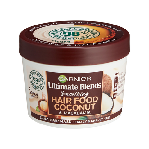 Garnier Ultimate Blends Hair Food Coconut Oil 3-in-1 Frizzy Hair Mask Treatment 390ml in Sri Lanka