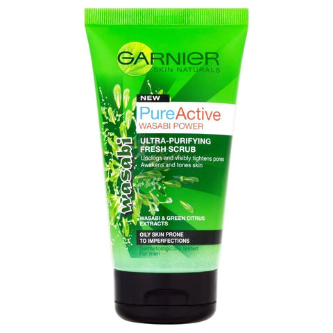 Buy Garnier pure active wasabi scrub 150ml in sri lanka