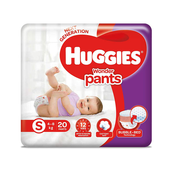 Huggies Wonder Pants, Small Size Diapers pack of 2 , 20 Counts Per Pack