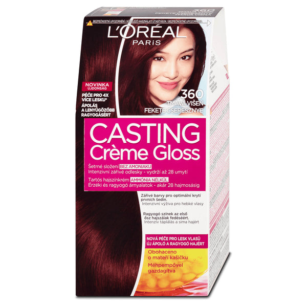 LOreal Casting Creme Gloss Black Cherry  360 Hair Colour