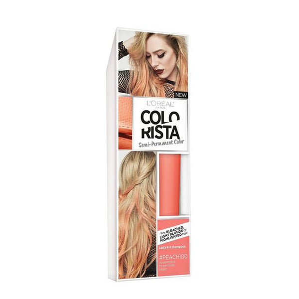 L'Oreal Paris Colorista Semi-Permanent Hair Color for Light Blonde or Bleached Hair Peach