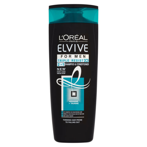L'Oréal elvive men triple resist 2in1 400ml in sri lanka