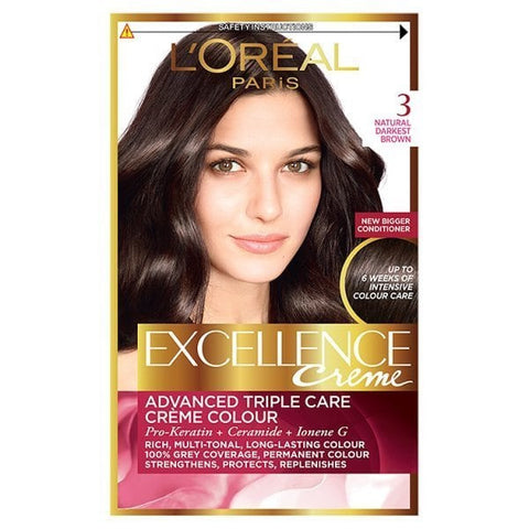 Buy L'Oreal excellence 3 natural darkest brown in sri lanka