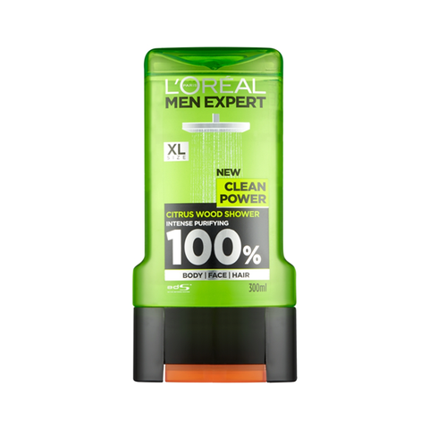 L'Oreal Men Expert Clean Power Shower Gel 300ml in Sri Lanka