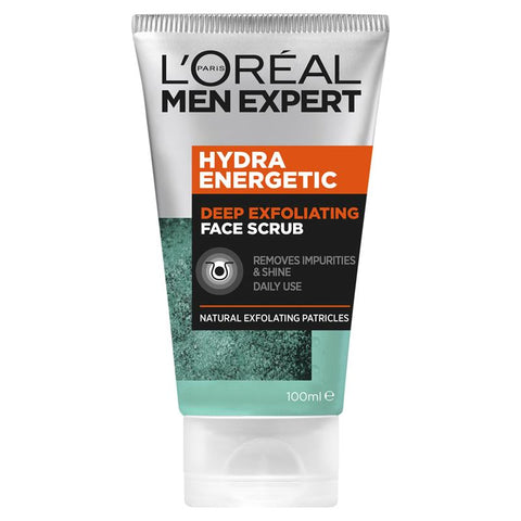 L'Oreal Men Expert Hydra Energetic Deep Exfoliating Face Scrub 100ml