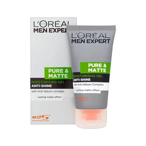 L'Oreal Men Expert Pure & Matte Anti-Shine Gel Moisturiser 50ml in Sri Lanka