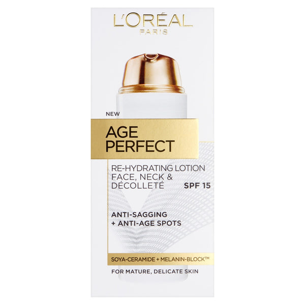 L'Oreal Paris Age Perfect Re-Hydrating Lotion Face, Neck & Decollete SPF15