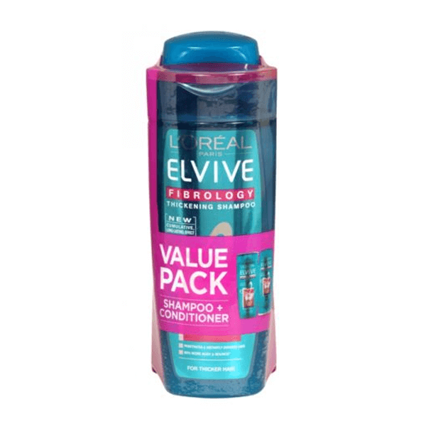 L'Oreal Paris Elvive Fibrology Shampoo & Conditioner Twin Pack 250ml in Sri Lanka
