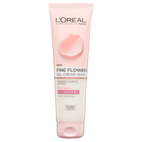 Buy L'Oreal Paris Fine Flowers Cleansing Face Wash 150ml in sri lanka