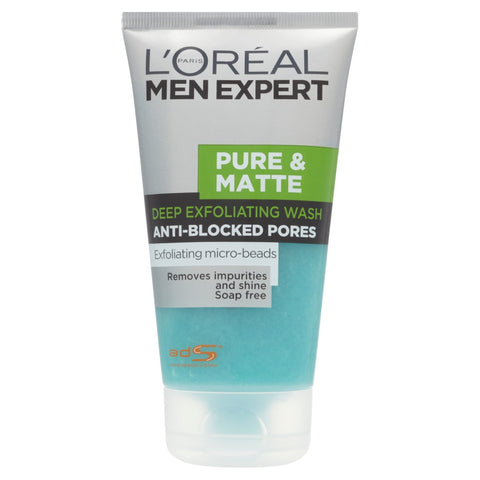 Buy L'Oreal paris men expert pure and matte scrub face wash in sri lanka