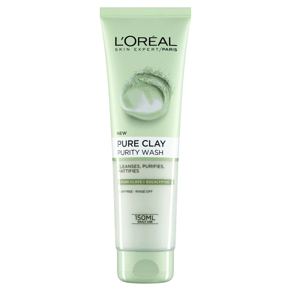 Buy L'Oreal paris pure clay foam wash green 150ml in sri lanka
