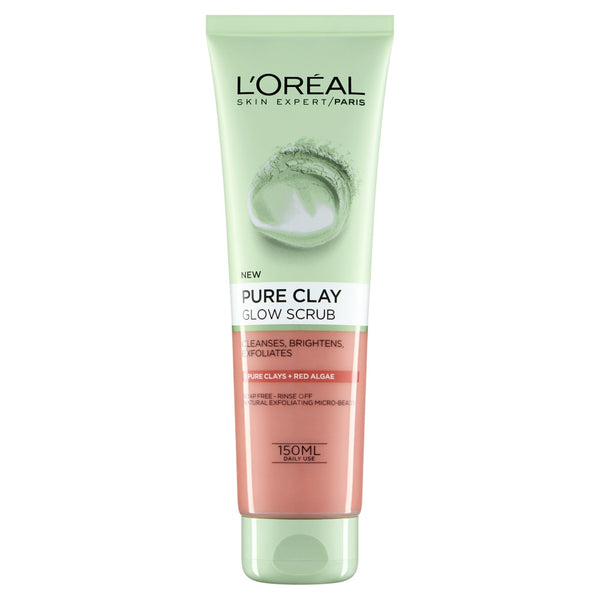 Buy L'Oreal paris pure clay glow scrub red 150ml in sri lanka