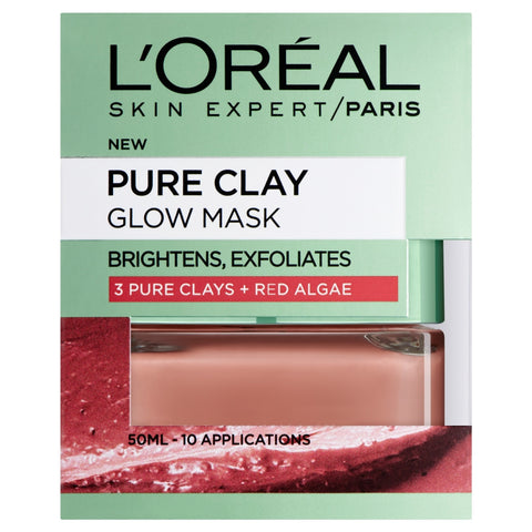 Buy L'Oreal paris pure clay glow face mask 50ml in sri lanka