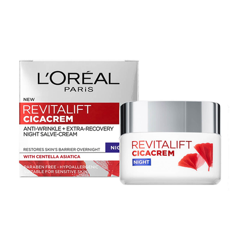 L'Oreal Paris Revitalift Cica Anti Wrinkle Recovery Night Cream 50ml in Sri Lanka