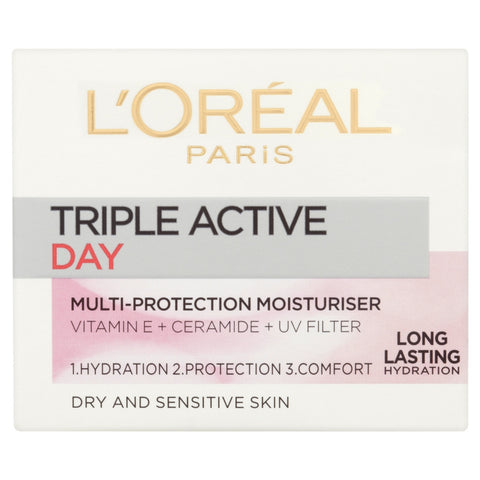 Buy L'Oreal paris triple active day moisturiser dry & sensitive skin in sri lanka