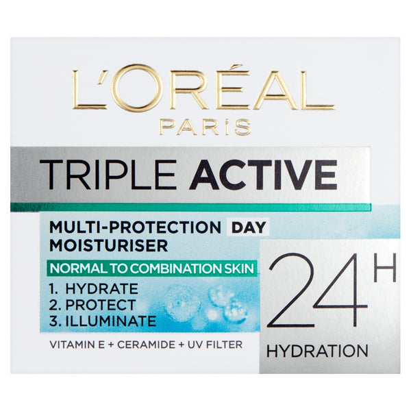 Buy L'Oreal paris triple active day moisturiser normal to combination skin in sri lanka