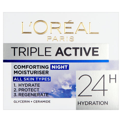 Buy L'Oreal paris triple active night cream 50ml in sri lanka