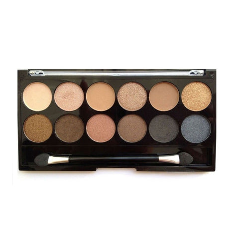 MUA Make up Academy Professional Eyeshadow Palette Undressed 12 Shades Metallic