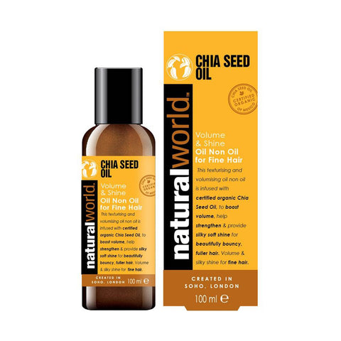 Natural World Chia Seed Oil - Volume & Shine Oil 100ml