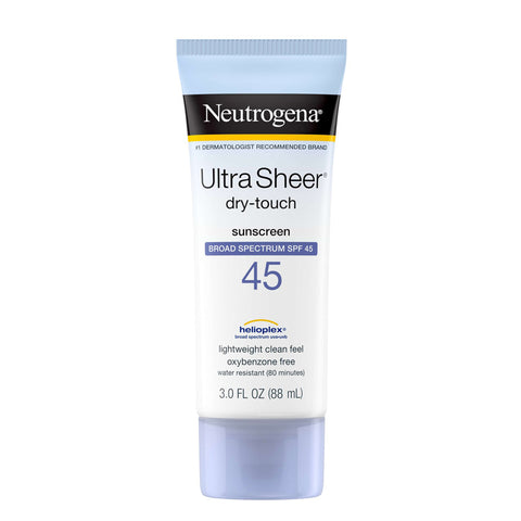 Neutrogena Ultra Sheer Dry-Touch Sunscreen Broad Spectrum SPF 45 88ml