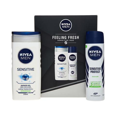 Nivea Men Feeling Fresh Sensitive Duo Gift Set in Sri Lanka