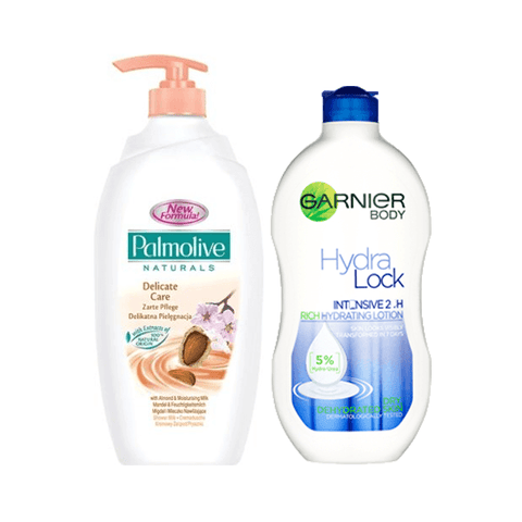 Palmolive Shower Milk & Garnier Hydralock Body Milk Gift Set in Sri Lanka