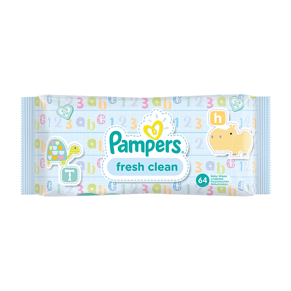 Pampers Fresh Clean Baby Wipes (64 Wipes) in Sri Lanka