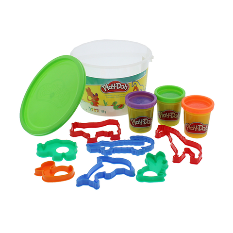 Playdoh Bucket 3 Mini Pots & 8 Cutters Ass in Sri Lanka