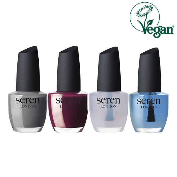 Seren London Vegan Nail Polish, Base Coat & Top Coat Gift Set in Sri Lanka