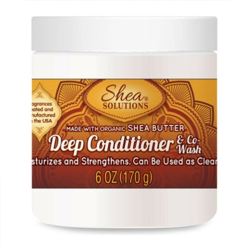 Shea Solutions Deep Conditioner & Co-Wash. Made with Organic Shea Butter 170g