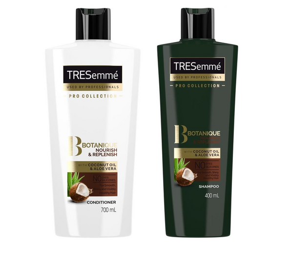 TRESemme Pro Collection Botanique Nourish & Replenish Shampoo and Conditioner 700 ml (Special Offer)