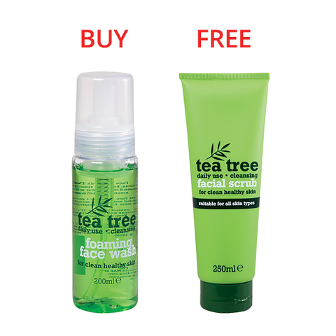 Tea Tree Foaming Face Wash 200ml & Cleansing Facial Scrub 250ml (Limited Offer!) in Sri Lanka