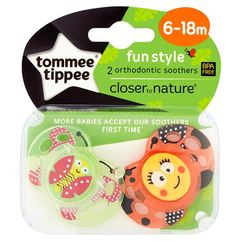 Tommee Tippee 2 Orthodontic Soothers