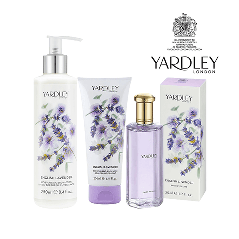 Yardley English Lavender Gift Set (EDT Spray 50ml, Body Lotion 250ml, Body Wash 200ml) in Sri Lanka