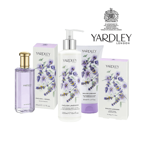 Yardley English Lavender Gift Set (EDT Spray 50ml, Body Lotion 250ml, Body Wash 200ml & Soap 3X100g) in Sri Lanka