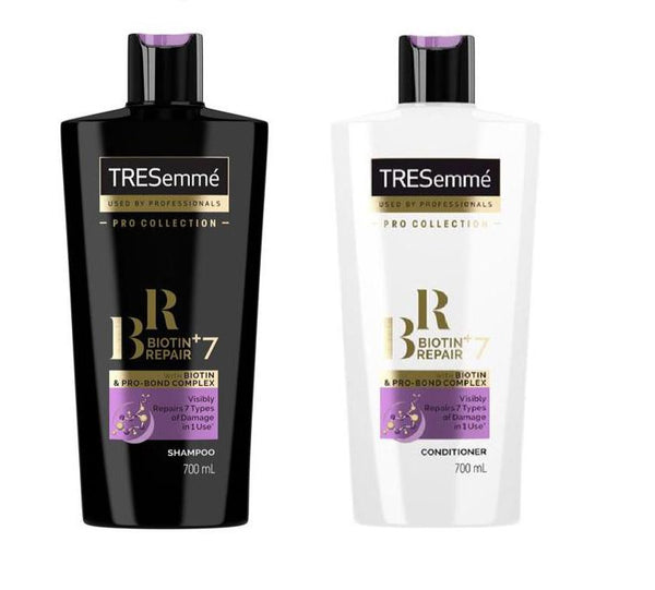 TRESemme Pro Collection Biotin+ Repair 7 Shampoo and conditioner 700ml (Special Offer)