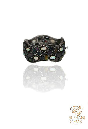 BLACK OPAL ROSECUT DIAMOND BRACELET