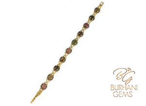 MULTI COLORED TOURMALINE TENNIS BRACELET