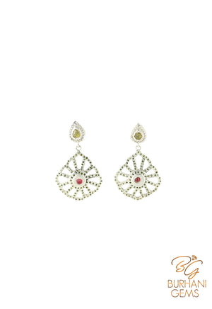 RUBY ROSECUT DIAMOND EARRINGS