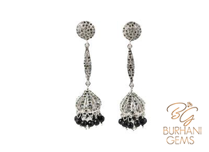 CHANDELIER ROSE CUT DIAMOND EARRINGS