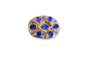 PAVE DIAMOND AMETHYST BEAD