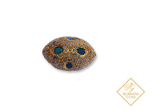 EMERALD PAVE DIAMOND GOLD BEAD