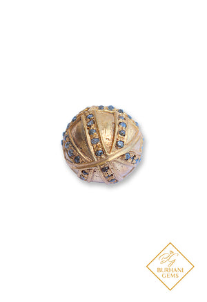 DIAMOND PAVE BEAD GOLD BALL