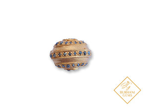 PAVE GOLD BEAD