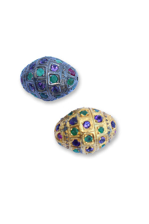 GOLD PAVE MULTICOLORED  BEAD
