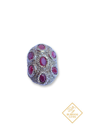 PAVE DIAMOND RUBY BEAD