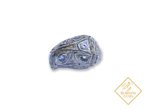 NUT PAVE DIAMOND TANZANITE BEAD