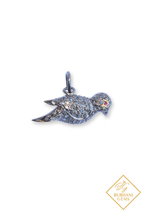 ROSE CUT PAVE DIAMOND BIRD CHARMS